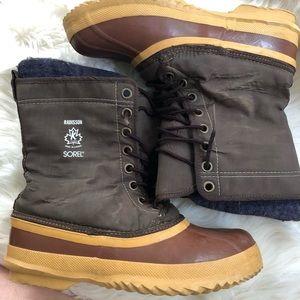 Sorel nylon & rubber rain snow mud boots w/inserts